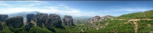 Nádherný výhled na Great Meteoron Monastery